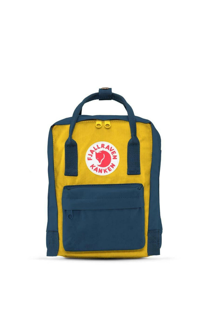 Fjällräven Kånken Mini Backpack in Navy/Warm Yellow
