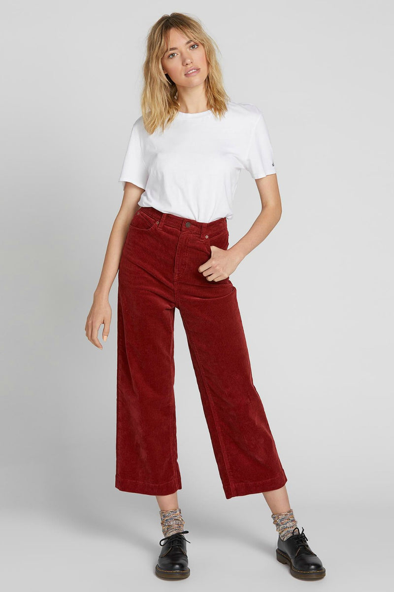 Volcom Oh My Cord Wide Leg in Auburn
