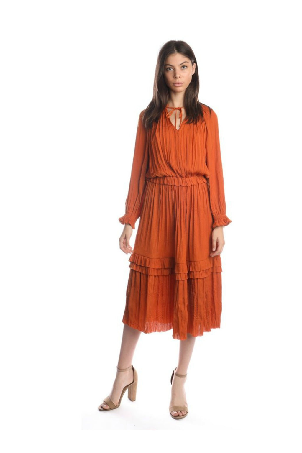 Current Air Out of Limits Dress in Burnt Orange