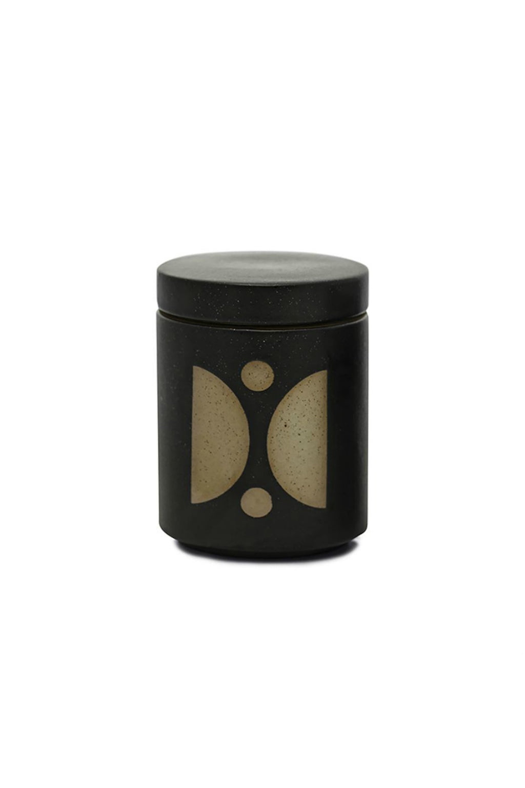 FORM 12 OZ BLACK GLAZED CERAMIC WITH LID - PALO SANTO SUEDE