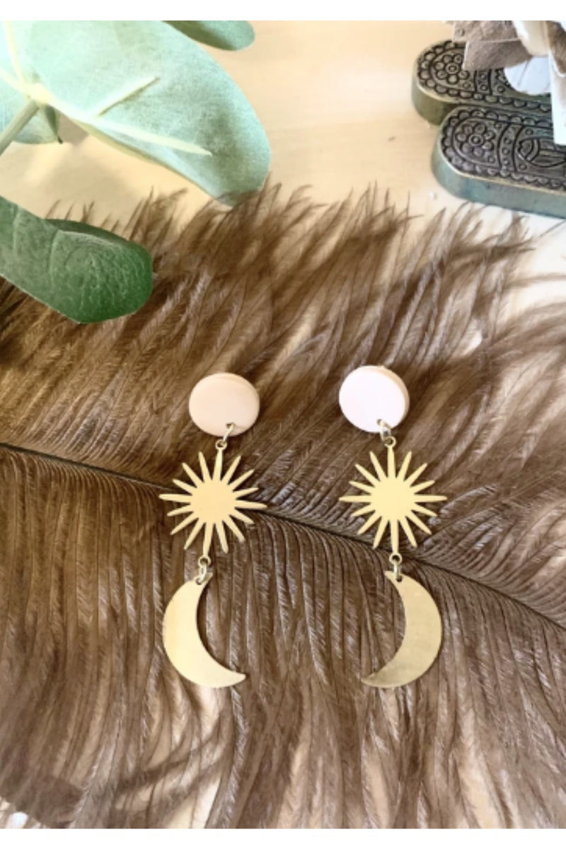 Refiner Jewelry Phoebe Sun & Moon Earrings