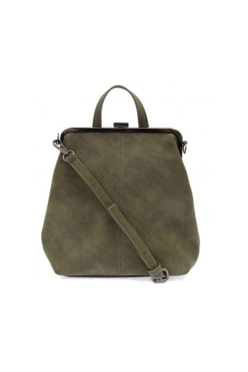 Joy Susan Phyllis Nubuck Convertible Backpack - Olive