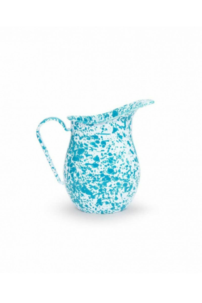 Crow Canyon Home Large 3qt Pitcher - Turquoise Splatter