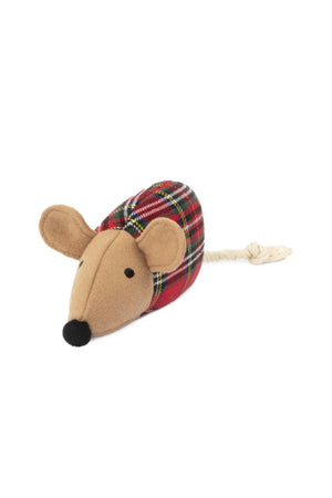 Harry Barker Plaid Mouse Toy