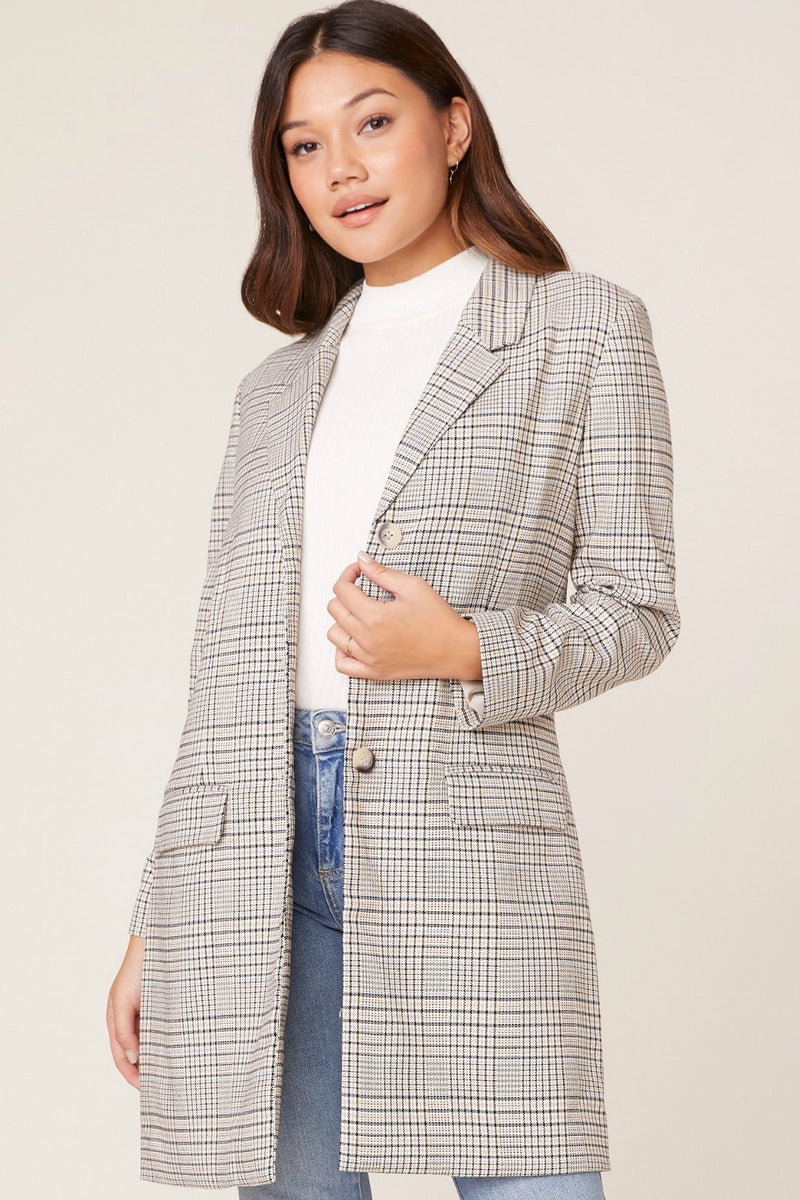BB Dakota Plaid Reputation Jacket