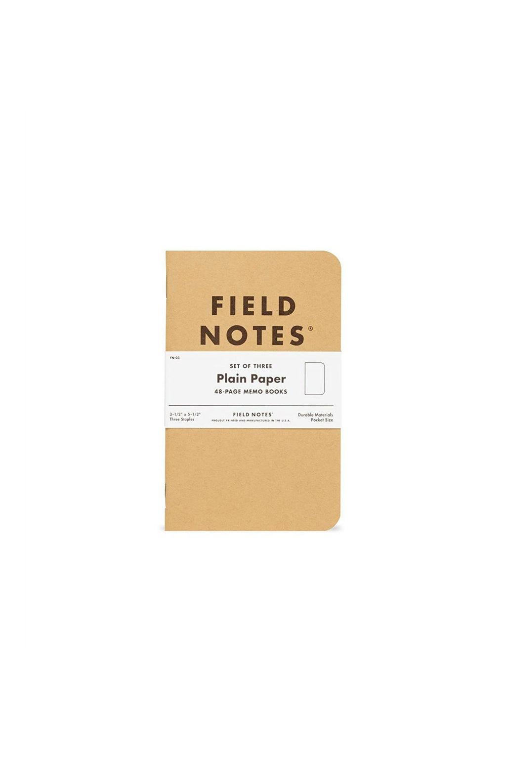 Field Notes Plain 3-Pack