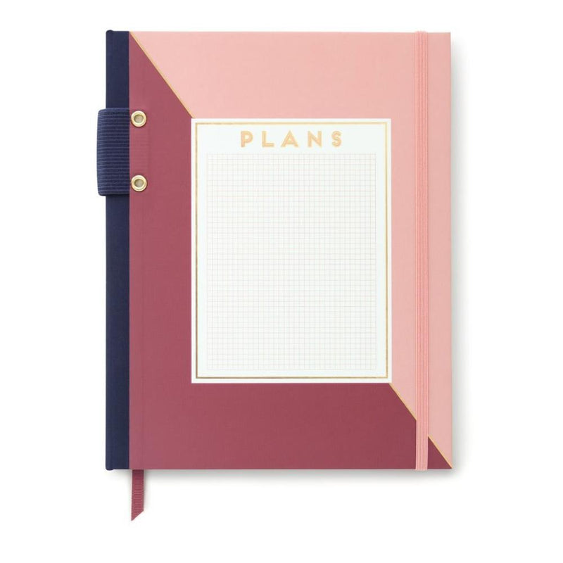 Designworks Ink Hardcover Journal With Pen Holder- Grid Notes