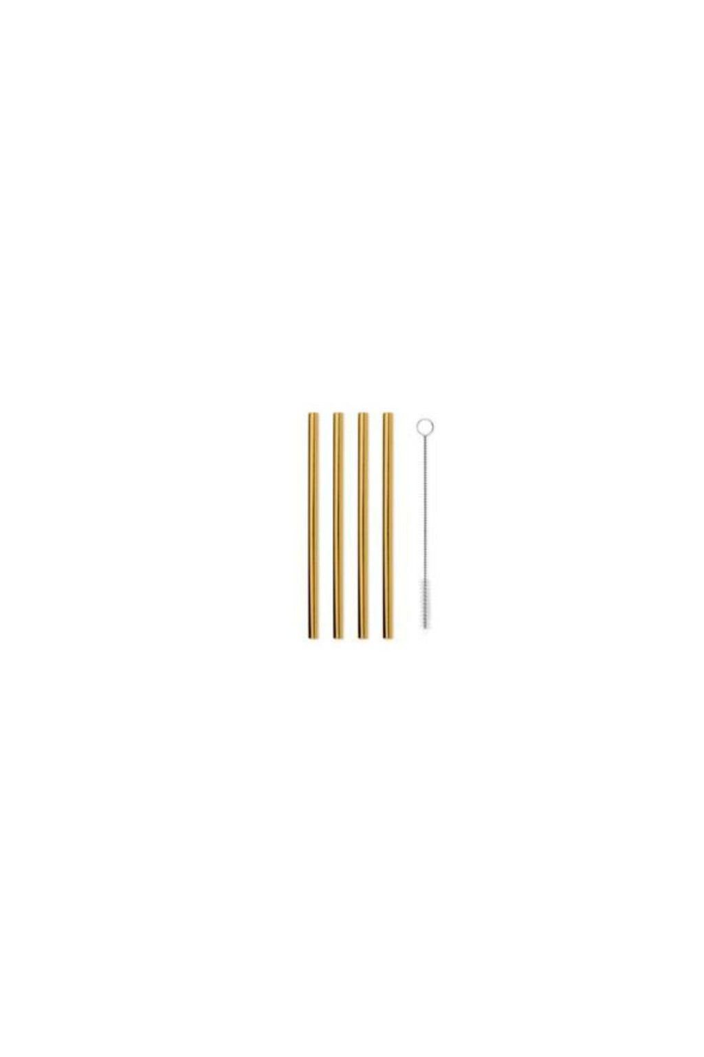 "W&P Porter 5"" Metal Straws - Set of 4 - Gold"