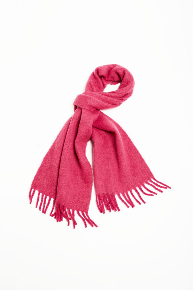 Look Vivid Colored Grunge Scarf in Pink