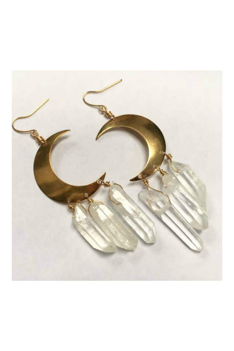 Odyssey & Oddities Crystal Crescent Earrings
