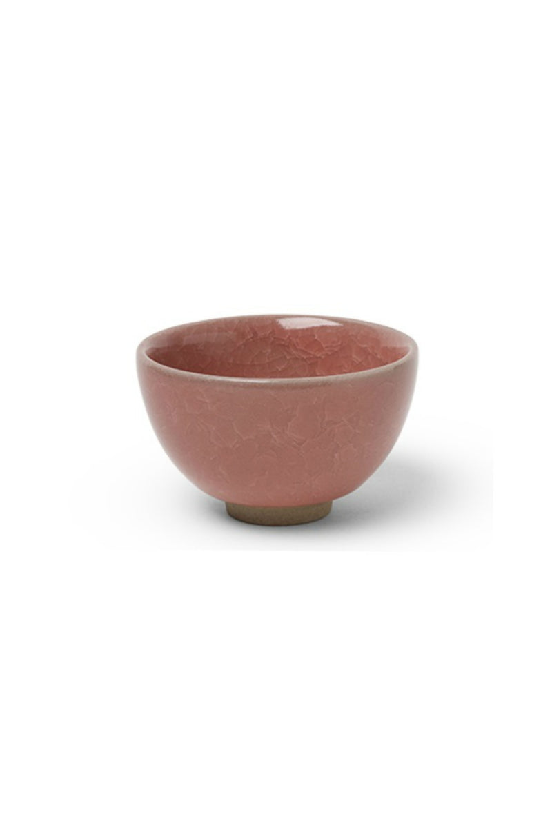 Miya Sakura Crackle Teacup in Red