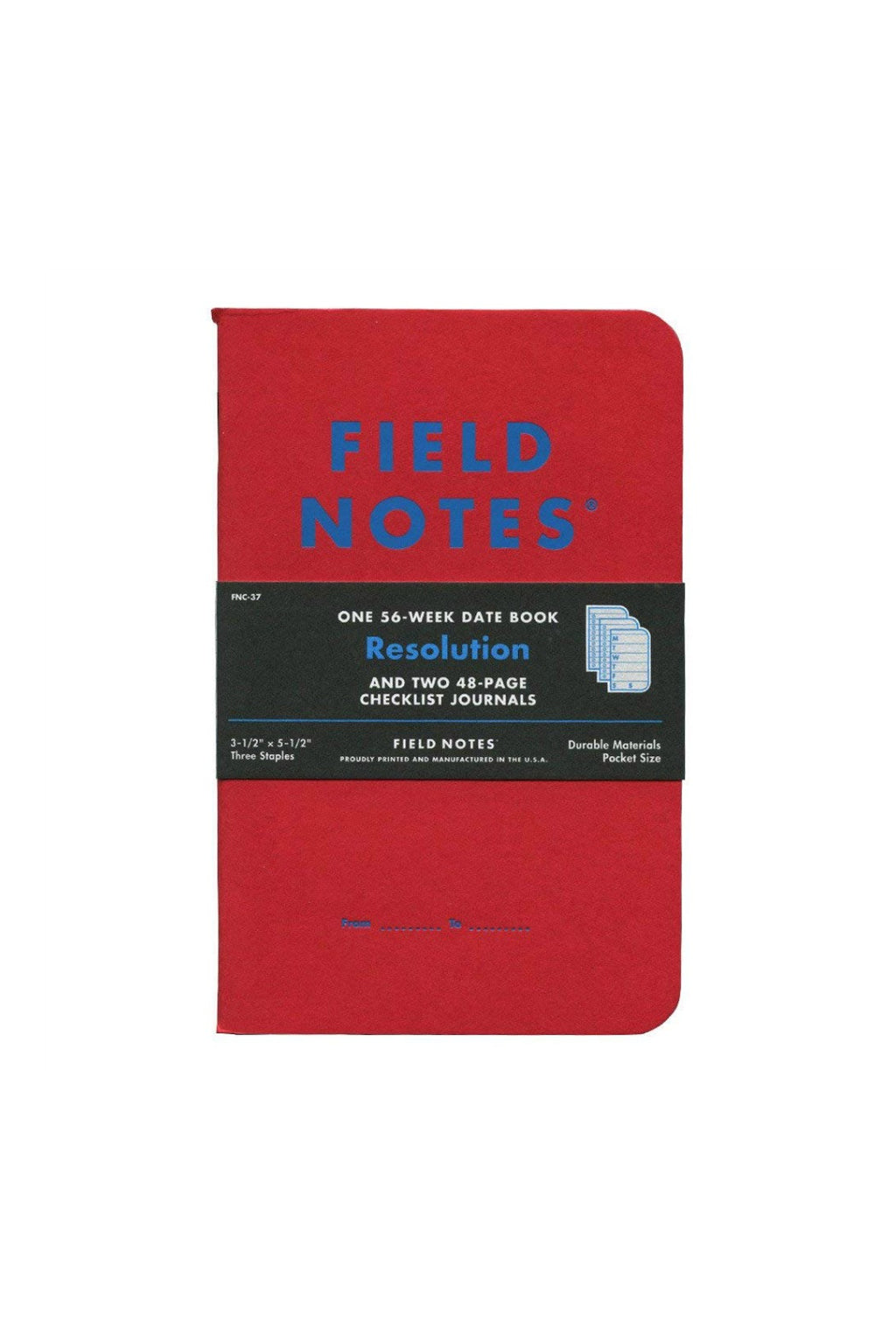Field Notes Resolution Date Book & Checklist