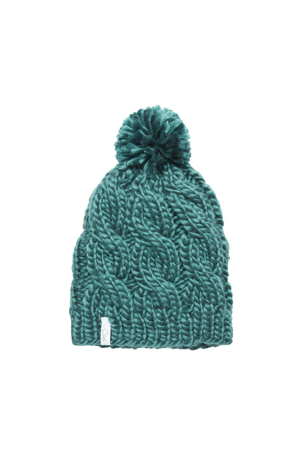 Coal Rosa Knit Pom Beanie - Evergreen