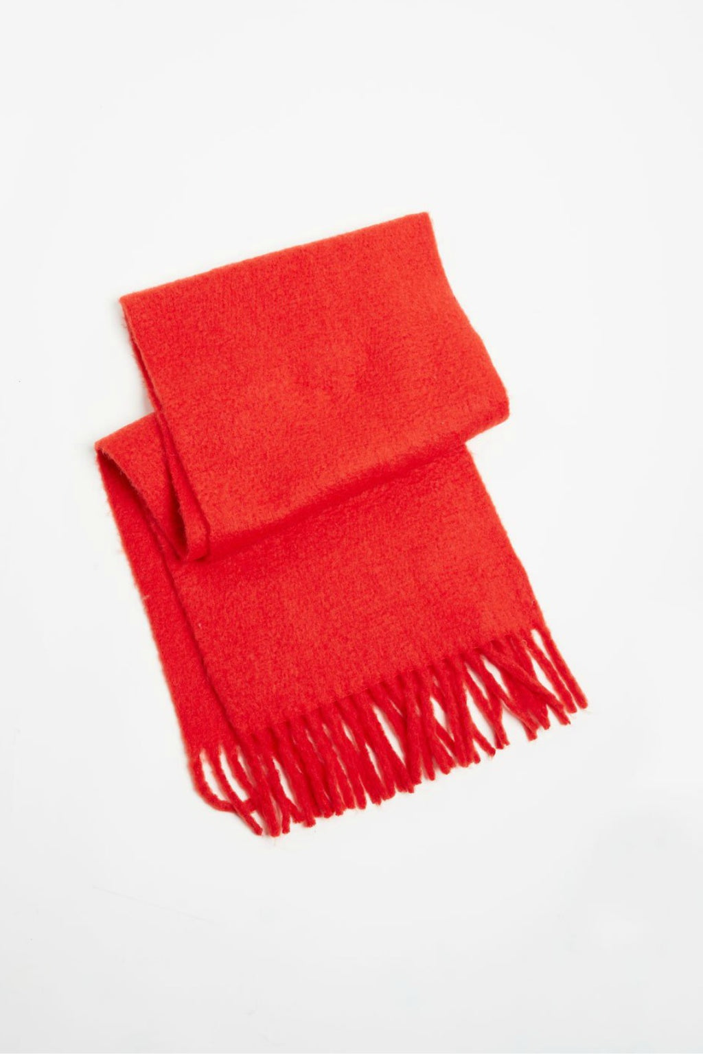 Look Vivid Colored Grunge Scarf in Red