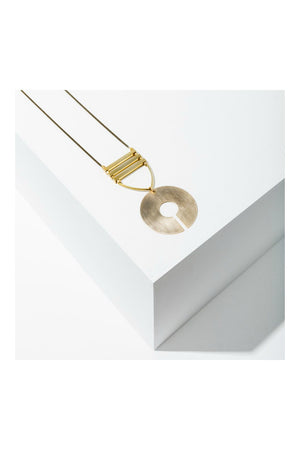 Larissa Loden Sabra Necklace - Brass