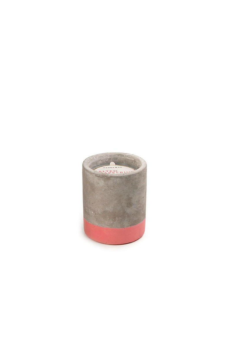 Paddywax Urban Concrete Candle - Salted Grapefruit
