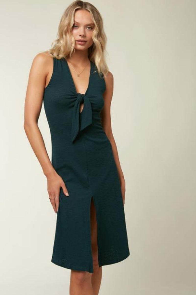 O'Neill Sandra Dress in Dark Fern