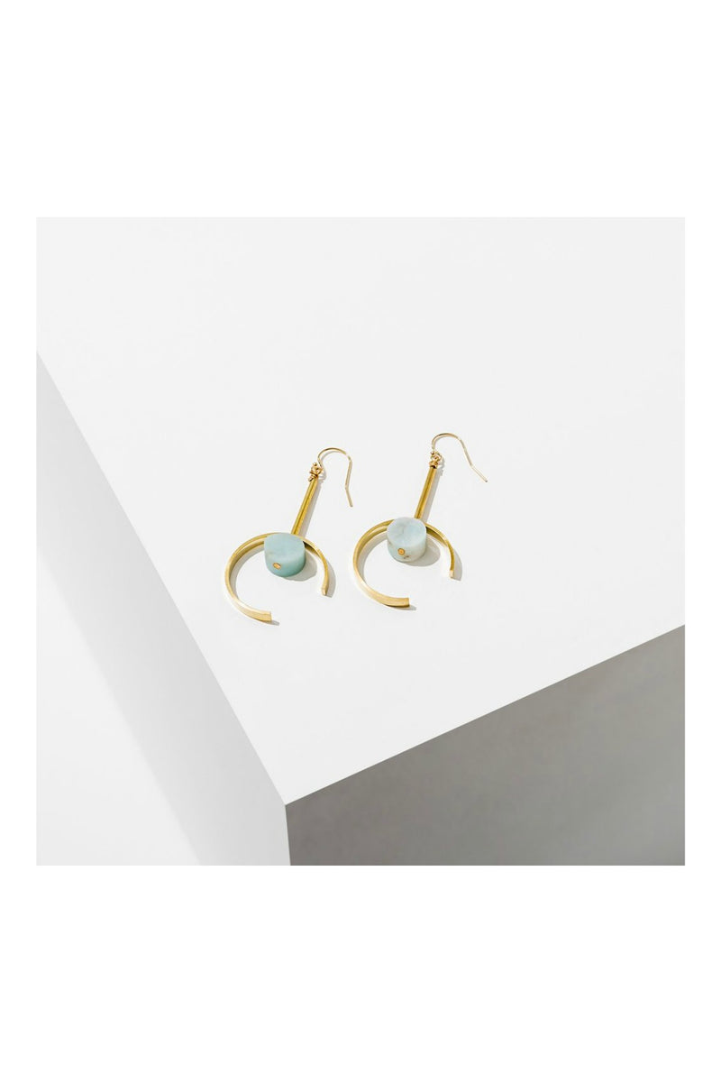 Larissa Loden Santorini Earrings - Amazonite