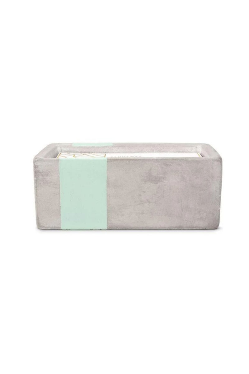 Paddywax Concrete Rectangle Collection 8oz. - Sea Salt + Sage
