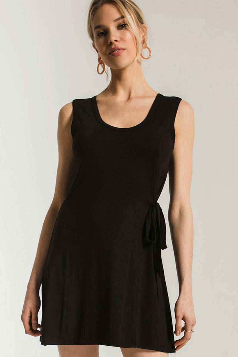 Z Supply Side Tie Dress in Black