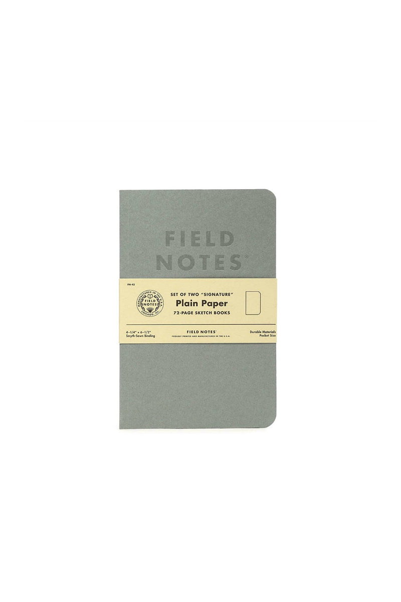 Field Notes Signature Sketch Book & Note book - Plain Paper