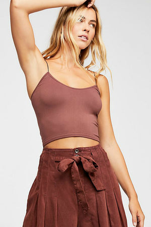 Free People Skinny Strap Brami in Chocolate