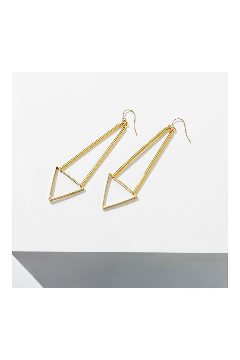 Larissa Loden Handmade Triangle Spire Earrings