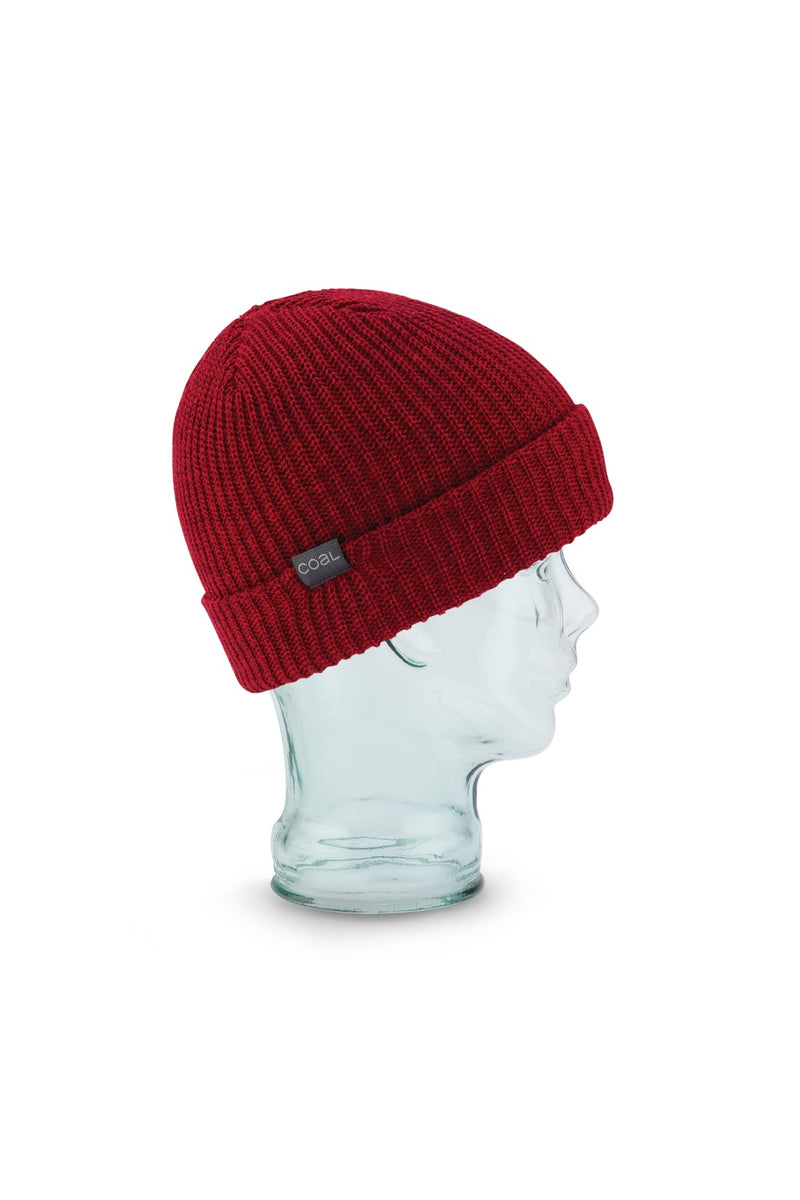 Coal Stanley Beanie in Heather Dark Red