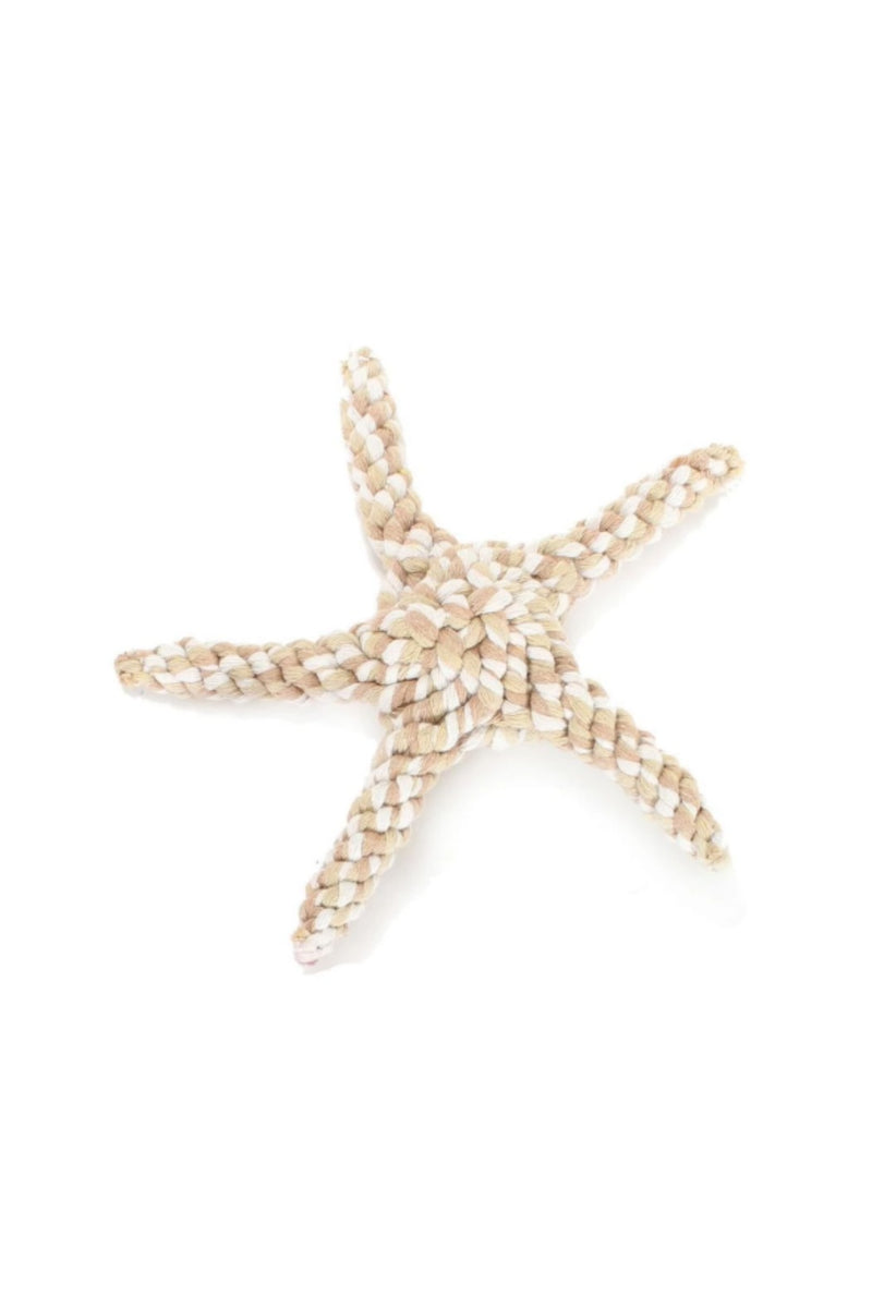 Harry Barker Rope Starfish Toy - Tan