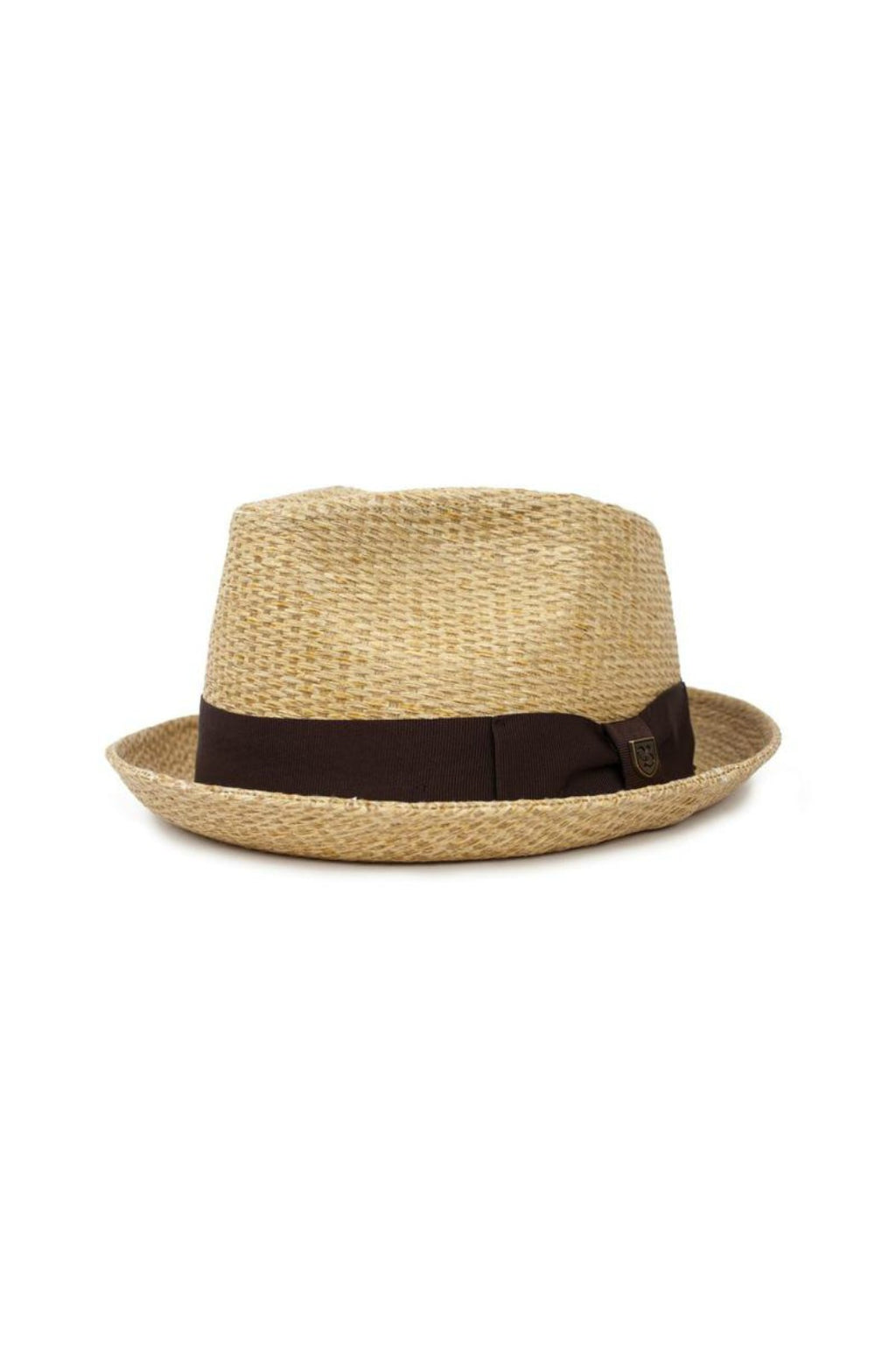 Brixton Castor Fedora in Tan Straw