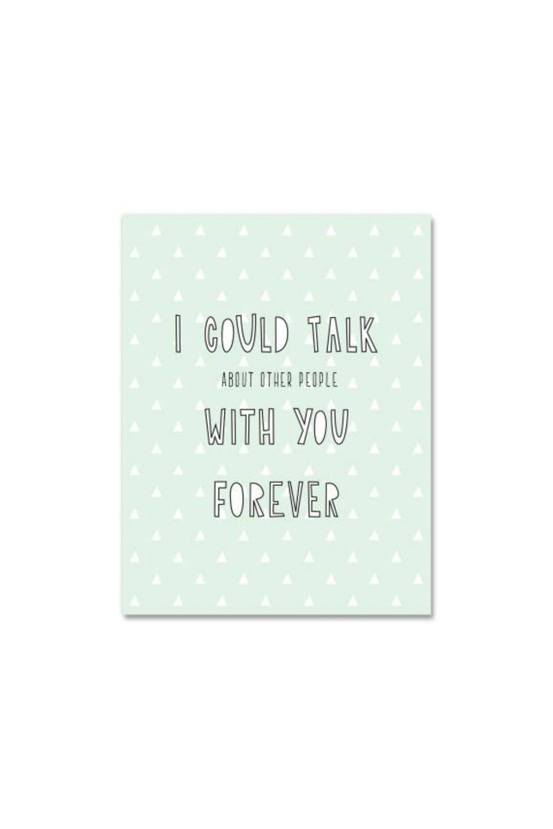 Near Modern Disaster Greeting Card - Talk Forever