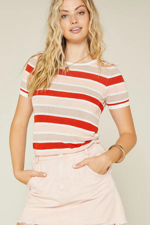 Sadie & Sage Teen Spirit Stripe Knit Top