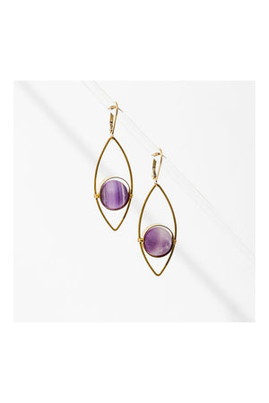 Larissa Loden Tempest Earrings - Amethyst