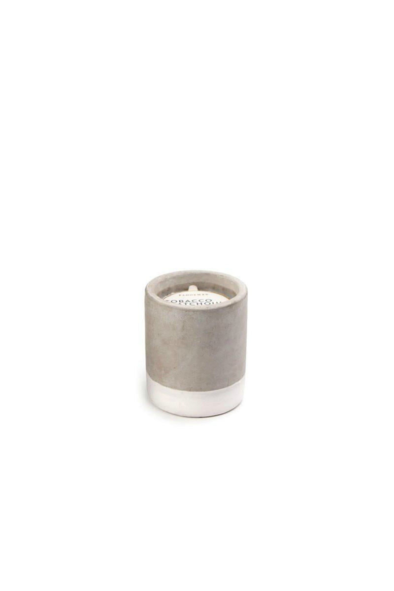 Paddywax Urban Concrete Candle - Tobacco & Patchouli