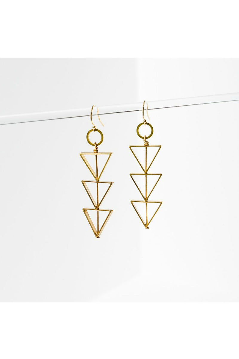 Larissa Loden Tri-Cut Earrings
