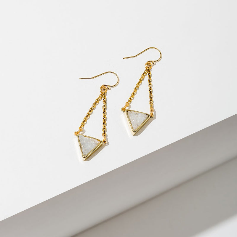 Larissa Loden Tri Drusy Earrings - White