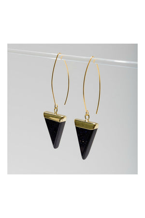 Larissa Loden Triune Earrings - Onyx