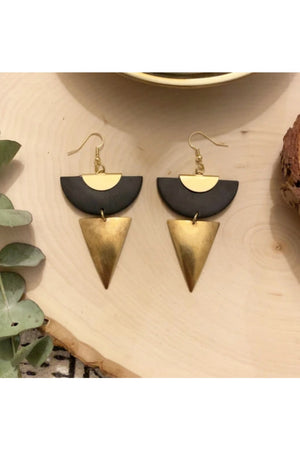 Refiner Jewelry Tuscana Brass Dagger Polymer Clay Earrings