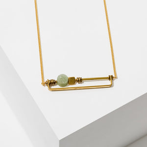 Larissa Loden Vesper Necklace - Green Aventurine