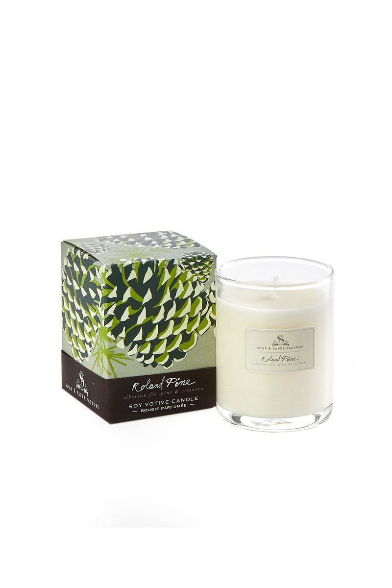 The Soap & Paper Factory - Roland Pine Votive Soy Candle