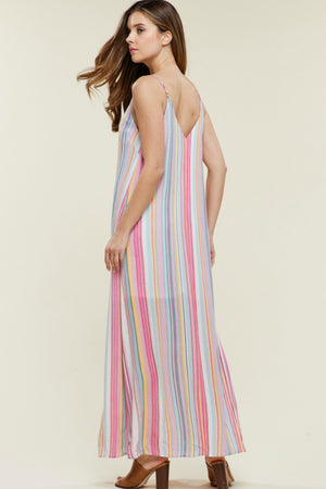 Weekend Stroll Striped Maxi Dress
