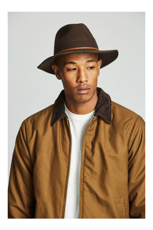 Brixton Wesley Hat in Chestnut