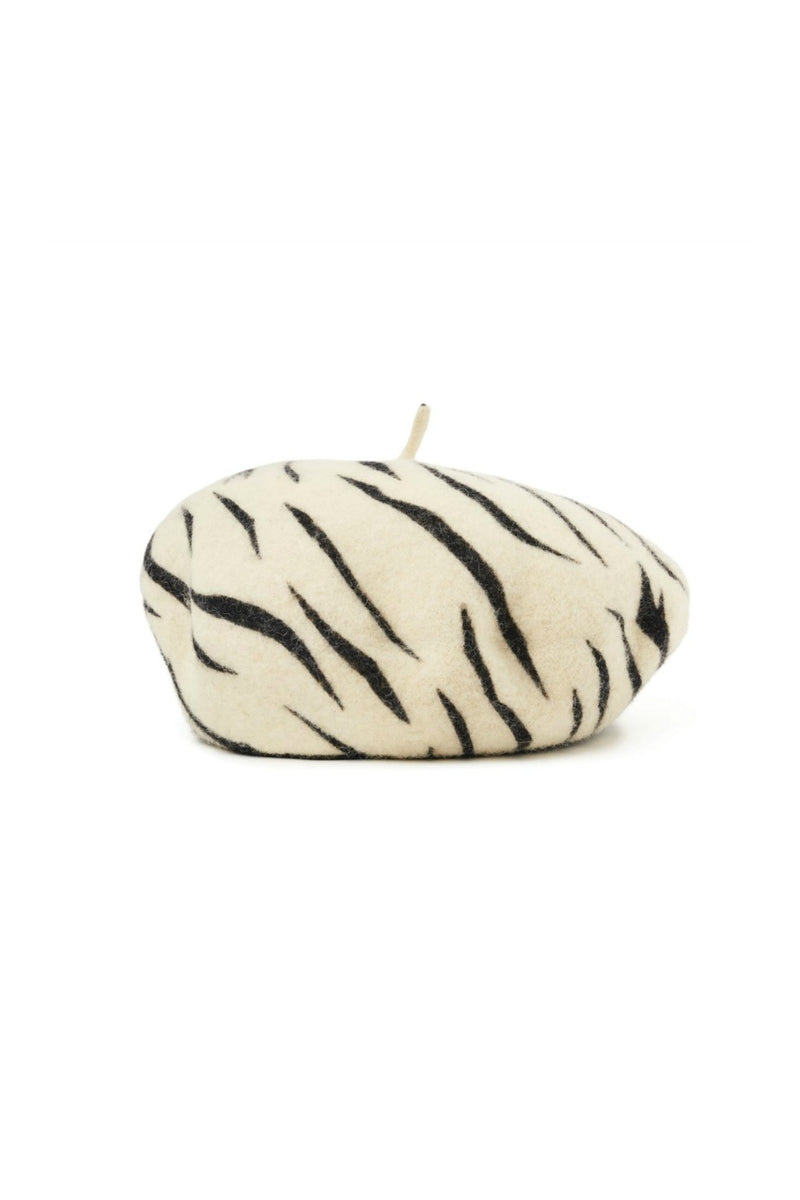 Brixton Audrey Beret in White Tiger