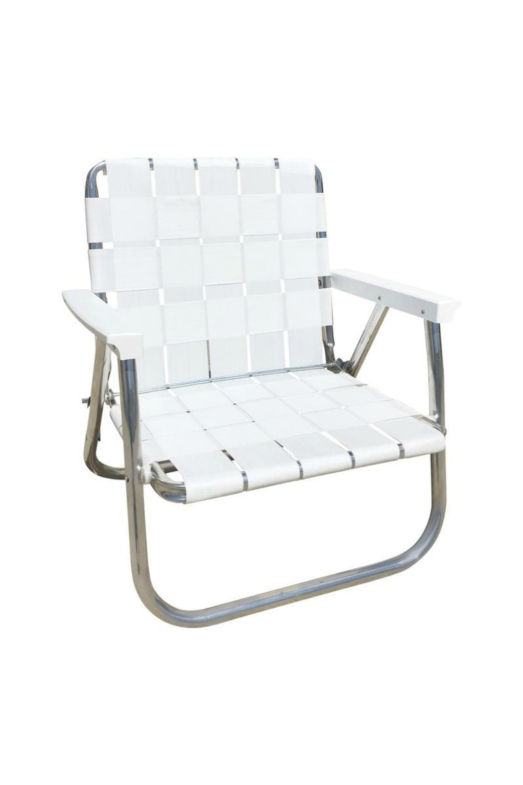 Lawn Chair USA Lowback Beach Chair - White