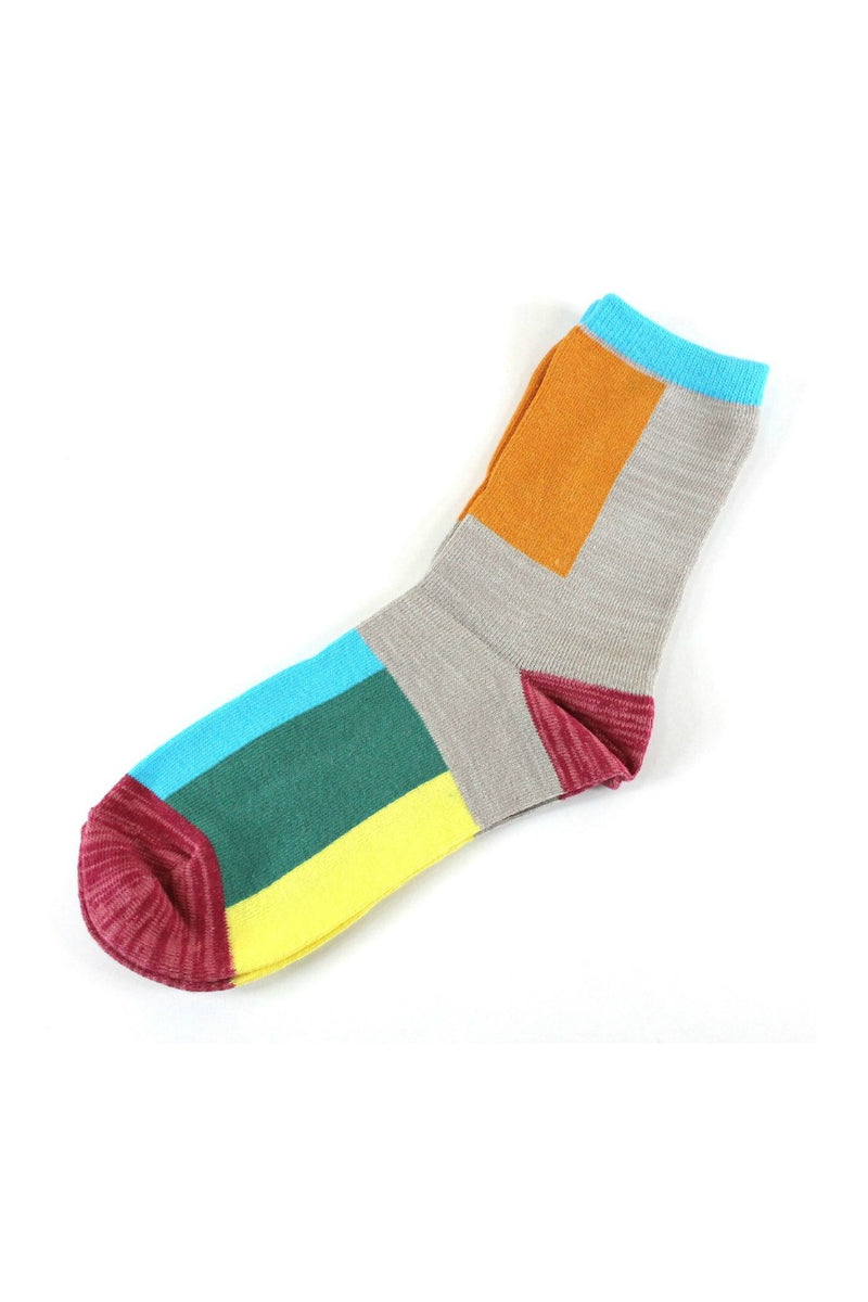 Pretty Persuasions Whiz Socks in Orange/Beige