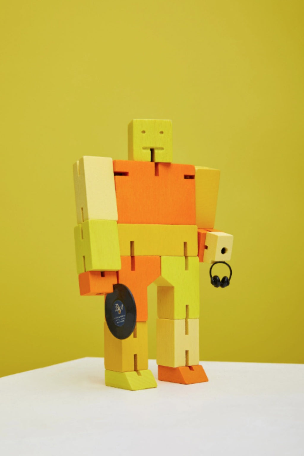 Areaware Cubebot Capsule Collection Micro by David Weeks -  Yellow Multi