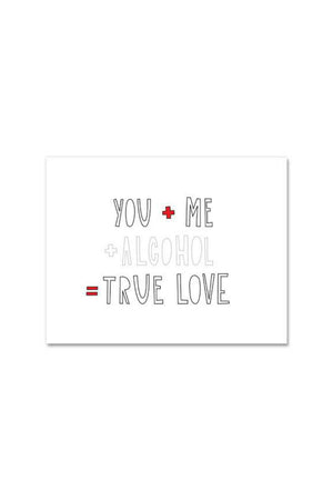 Near Modern Disaster Greeting Card - You + Me + Alcohol