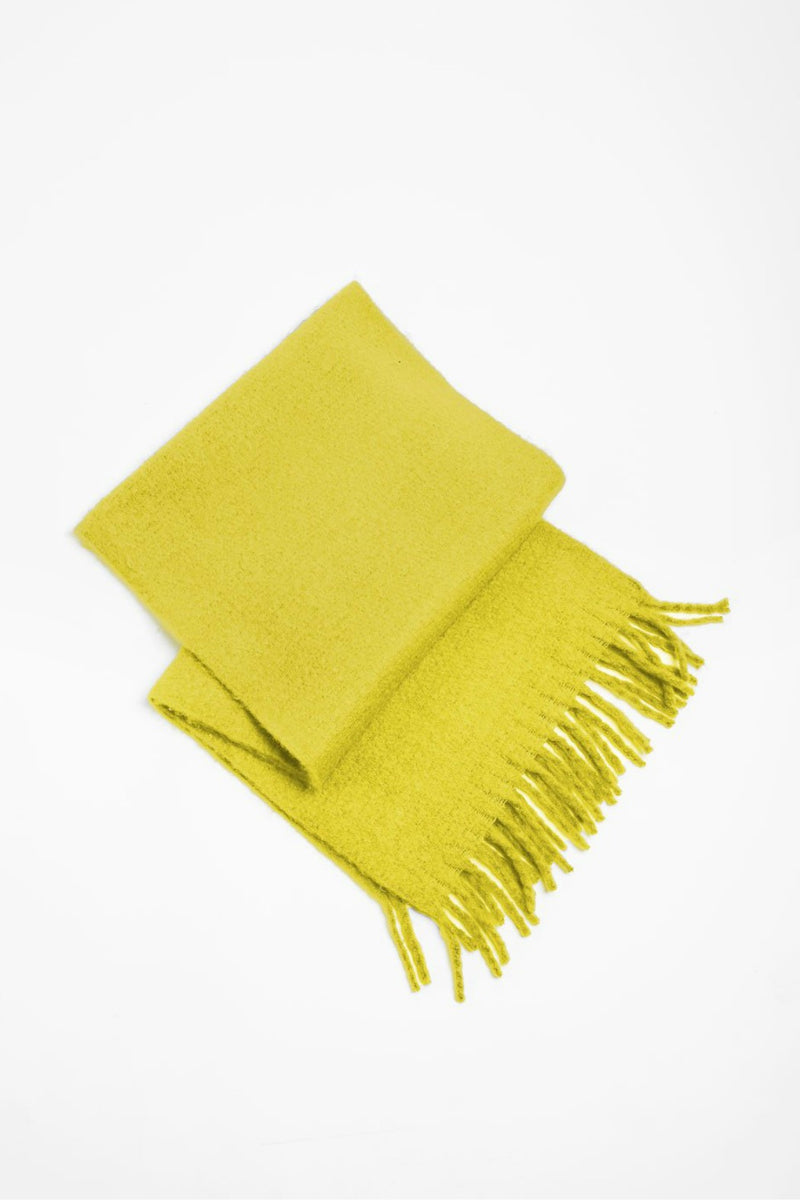 Look Vivid Colored Grunge Scarf in Yellow