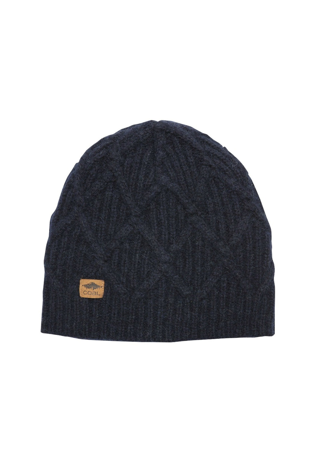 Coal Yukon Cable Knit Beanie - Navy