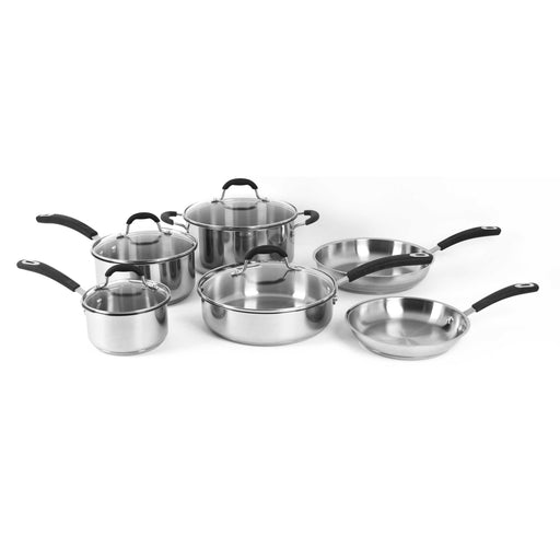 Oneida 10 Piece Stainless Steel Induction Ready Cookware Set | Extra 30% Off Code FF30 | Finest Flatware